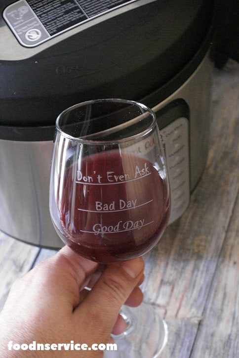 cheers to my instant pot wine!