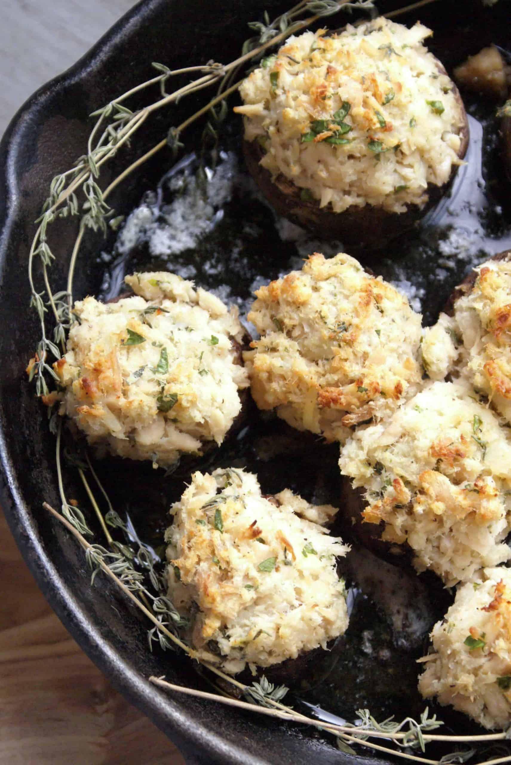 Tuna Stuffed Mushrooms