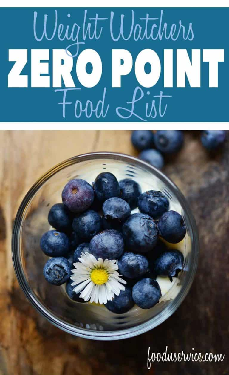 list of foods that are zero points on weight watchers