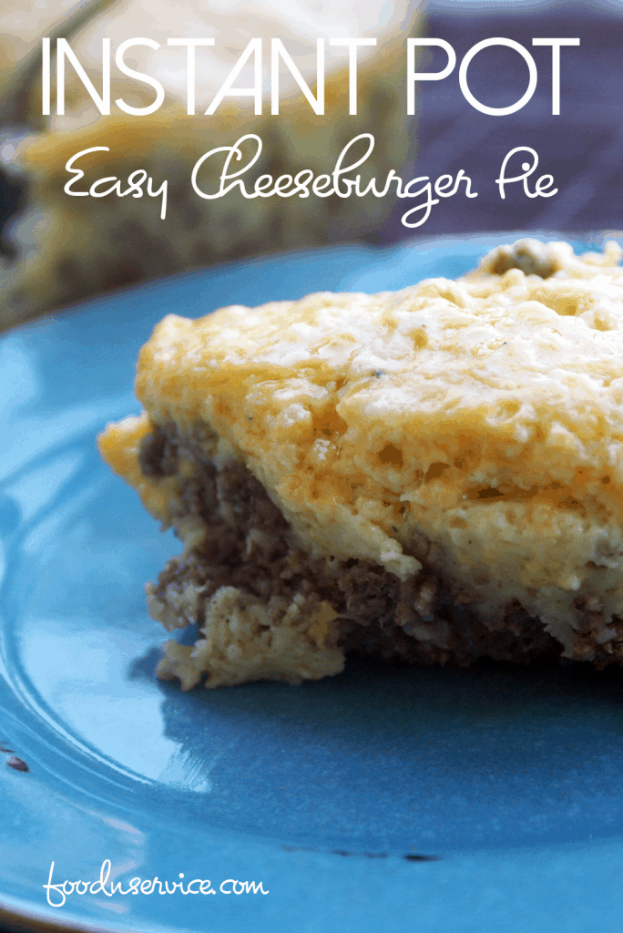 Instant Pot Easy Cheeseburger Pie