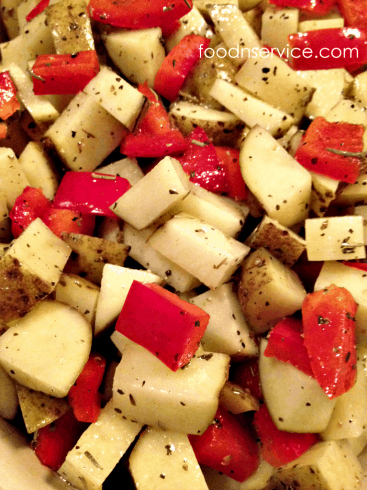 Oven Roasted Potatoes and Peppers