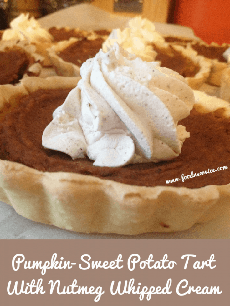 Pumpkin - Sweet Potato Tarts With Nutmeg Whipped Cream Recipe