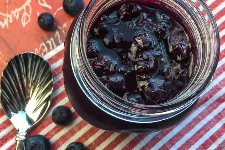 blueberry compote