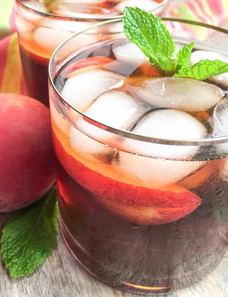 instant pot peach iced tea with mint