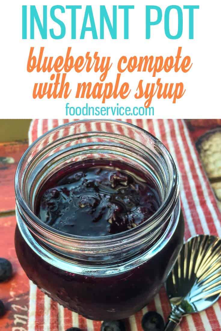 Easy to Make Instant Pot Blueberry Compote