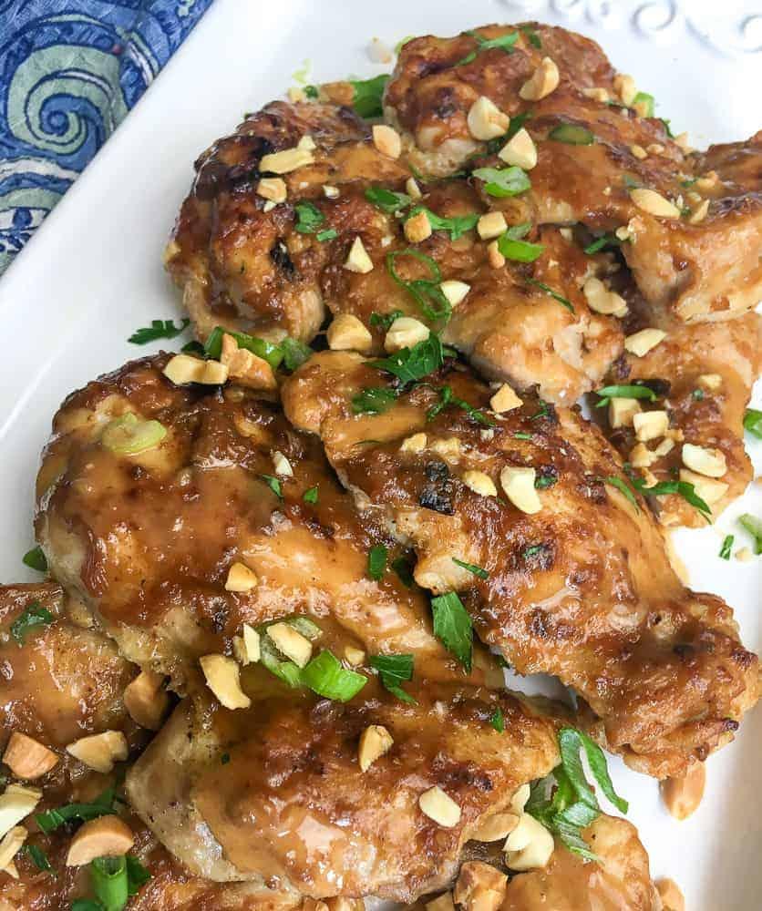 instant pot thai chicken thighs