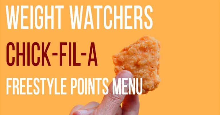 Chick Fil A Weight Watchers Freestyle Points