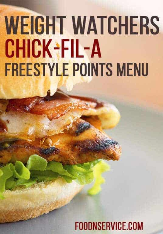 graphic regarding Chick Fil a Menu Printable identify Chick Fil A Fat Watchers Freestyle Details Meals N Services