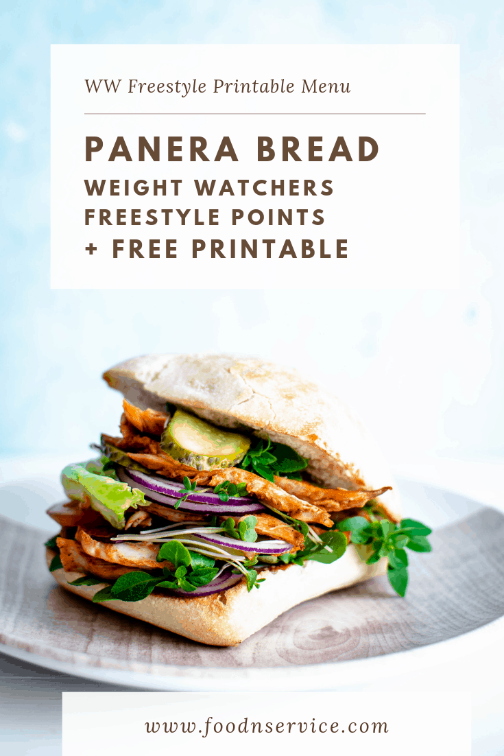 panera weight watchers points printable menu