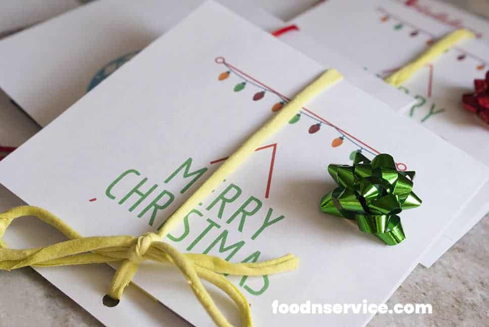 pop christmas cards on a table