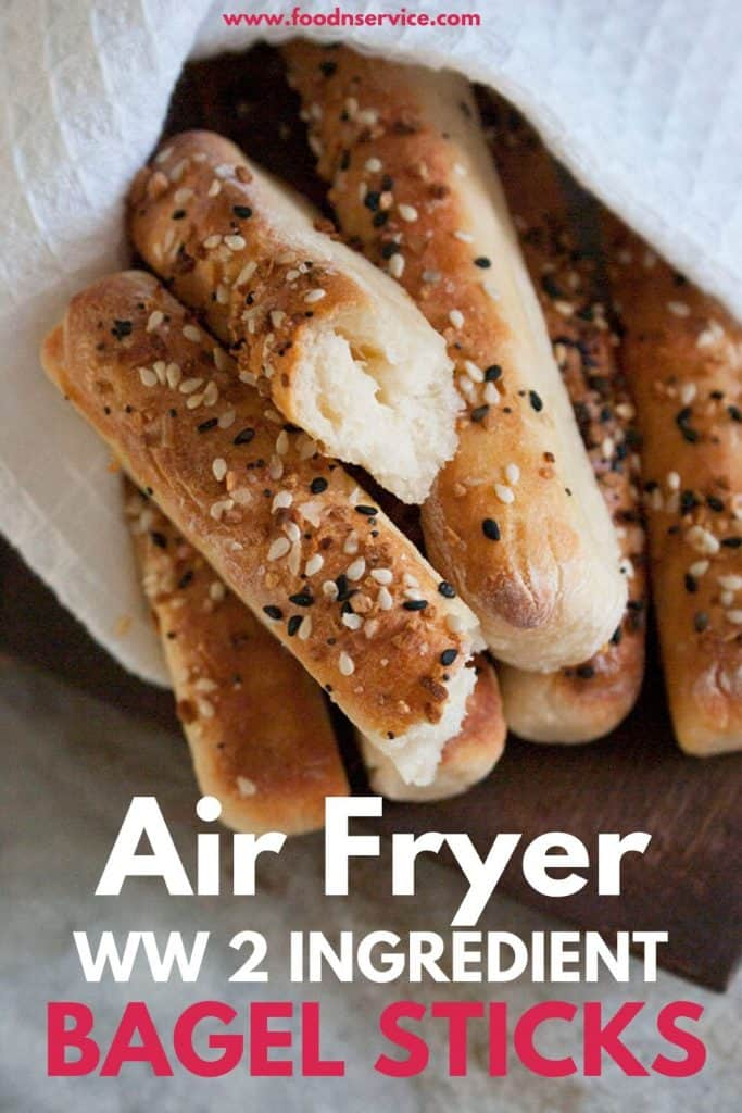 WW bagel sticks pinterest image