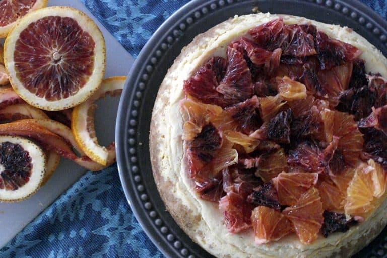 Instant Pot Blood Orange Cheesecake