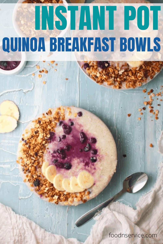 Instant Pot Quinoa Breakfast Bowl