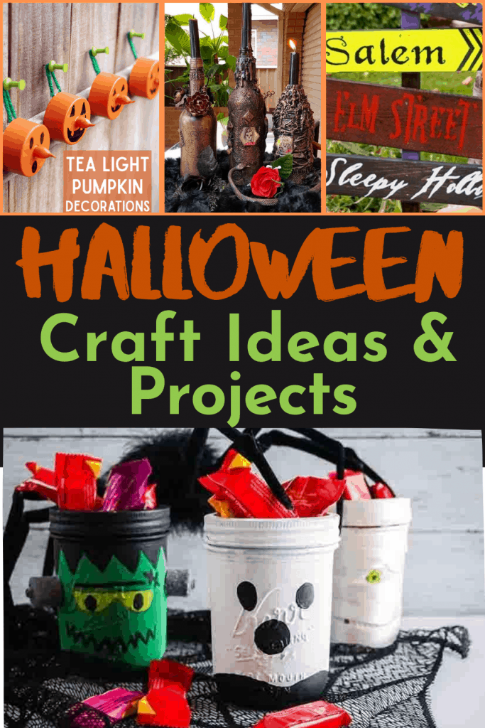 halloween craft ideas image collage of phots from halloween crafts in post