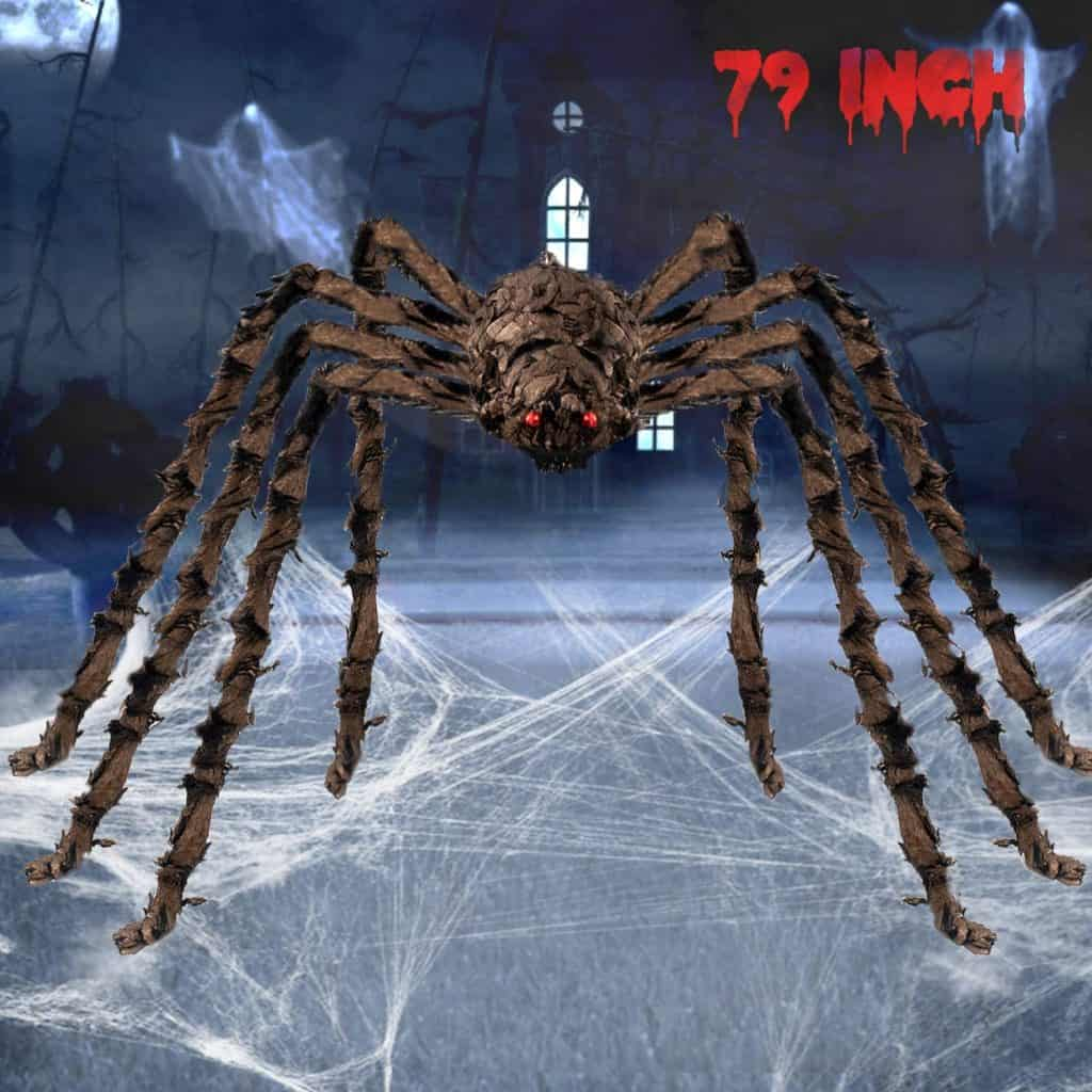 scary big spider halloween lawn decoration