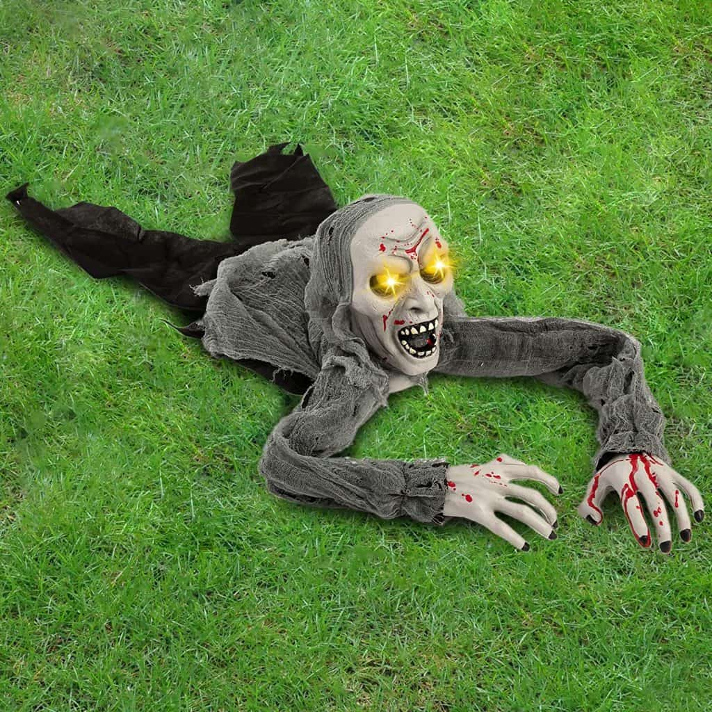 outdoor zombie halloween decoration