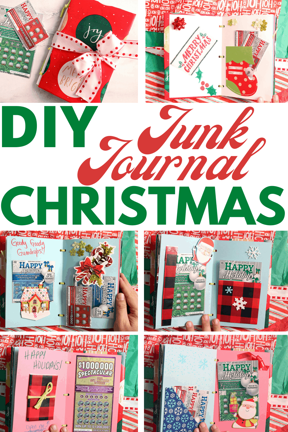 Christmas Junk Journal with NJ Lottery for Holidays
