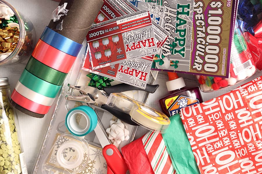 supplies needed for decorating christmas junk journal