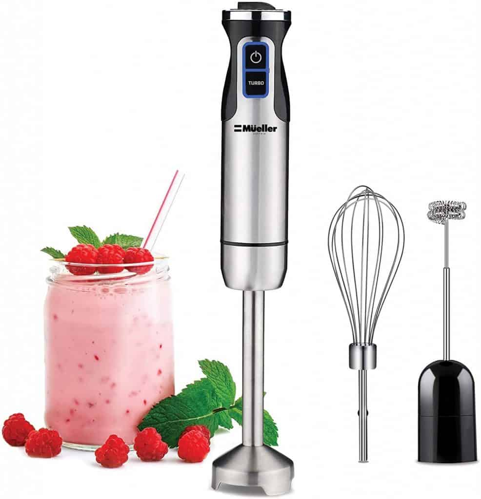 The immersion blender is one of my favorite small kitchen appliances