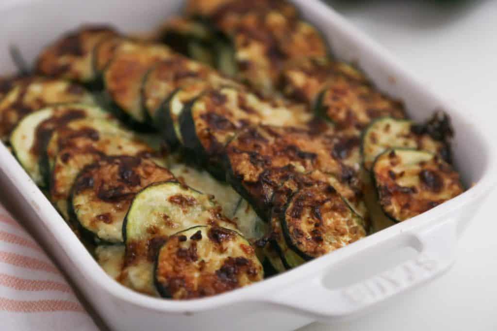 cheesy air fryer zucchini casserole recipe for family.