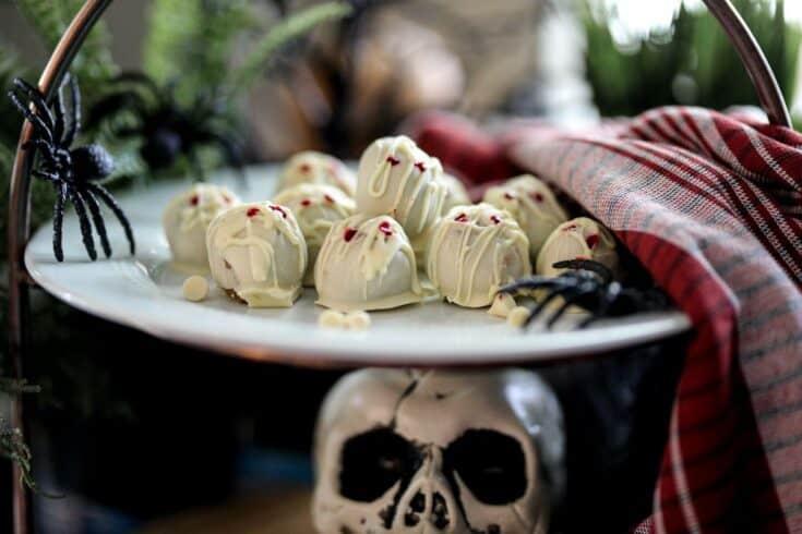 Pumpkin Cheesecake Mummy Truffles