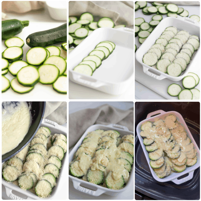 INPROCESS image of how to make the air fryer zucchini casserole recipe