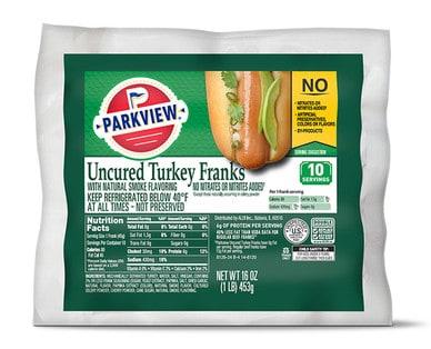 aldi parkview turkey franks weight watchers shopping list