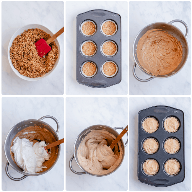 no bake mini pumpkin cheesecake ingredients and inprocess photos step by step