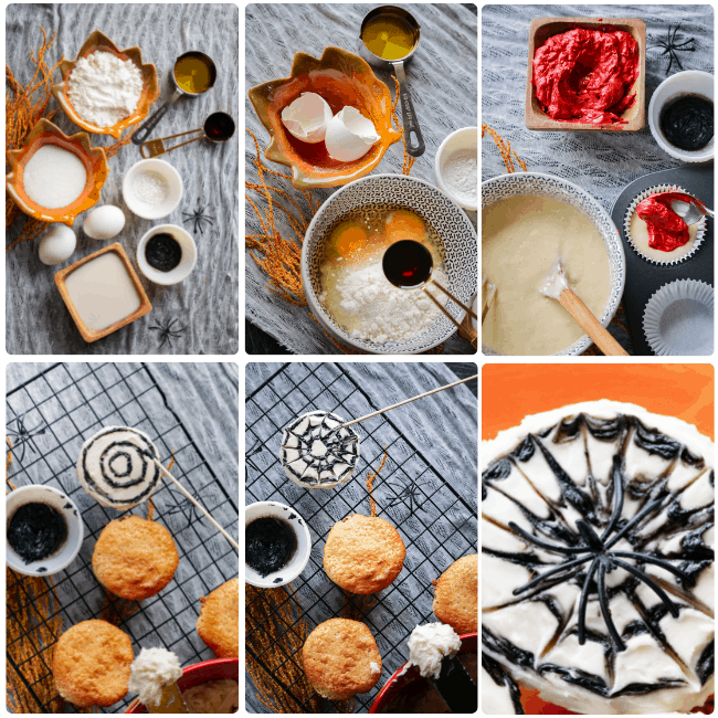 These Halloween Spider Web Cupcakes will add an extra dose of creepy crawly effect to your Halloween dessert creations.