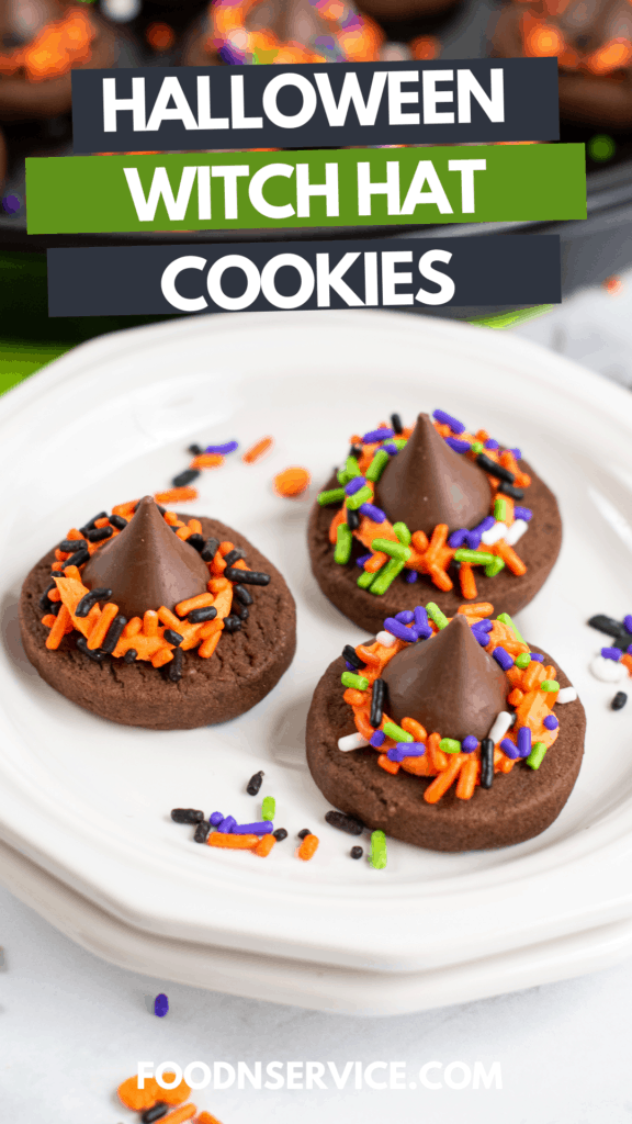 These easy to make Halloween Witch Hat Cookies are the perfect yummy treats for any Halloween get together!